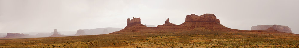 Monument Valley In Rain