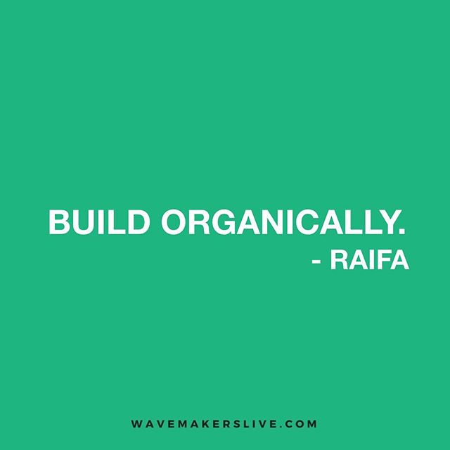 Be authentic and build organically with your audience. Insights from Raifa of the Mostly Lit podcast, shared this weekend with our #POWERCIRCLE ⠀ ⠀ You can't rush the process.⠀ ⠀ #wavemakerslive #organicgrowth #growthhacking #personaldevelopment #community #shapingthefuture
