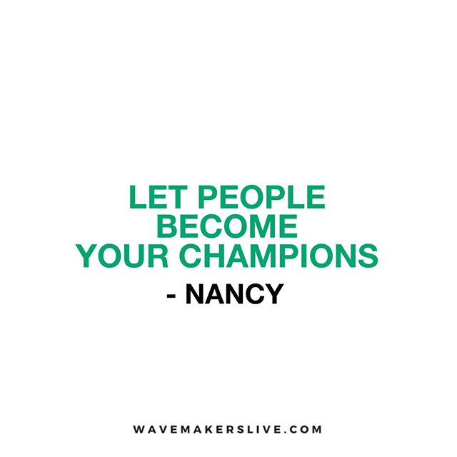 Business is about people. So when you look to collaborate with a bit organisation, make sure you have real people championing your cause.  Great advice from Nancy during #PowerCircle  #powercircle #personaldevelopment #community #wavemakerslive #shapingthefuture #motivation #excellence