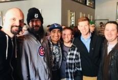 Left to Right:  Andrew Reiner of Game Informer, Phil the Chef, Karrington Martin, Kyle Federline, Cody Bachmann, Andrew Cooper