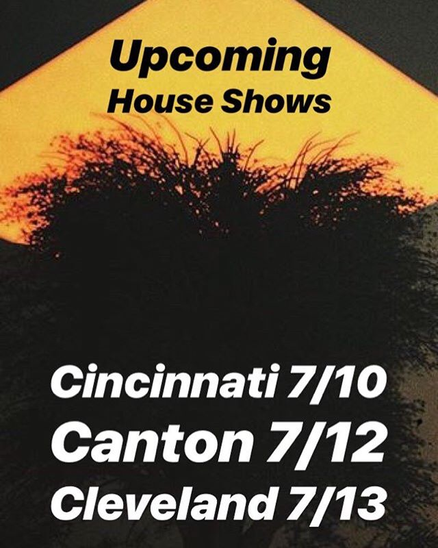OHIO SHOWS start here in a week, so tag all your pals and let's get schwifty ✌️ (tickets on sale now)