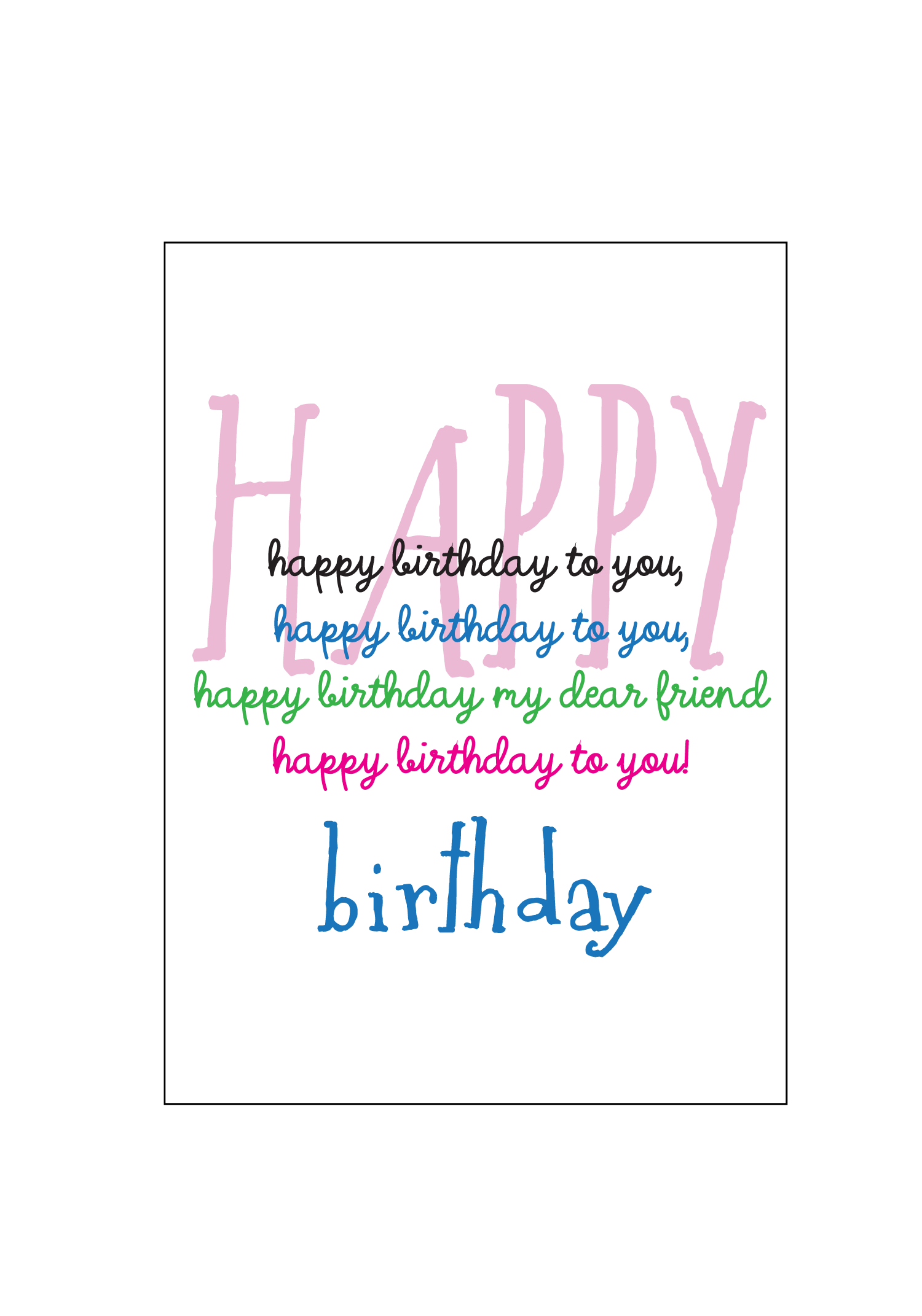 Happy Birthday To You Card Set — Social Butterfly Designs