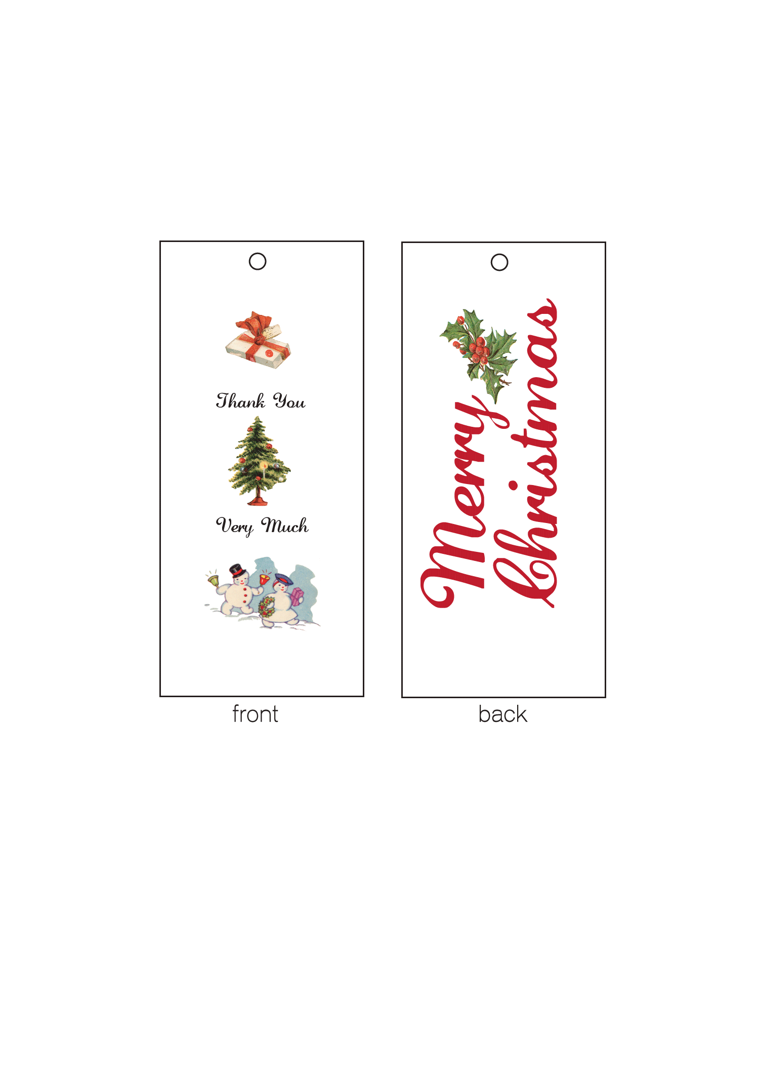 Vintage Christmas Gift Tags — Social Butterfly Designs