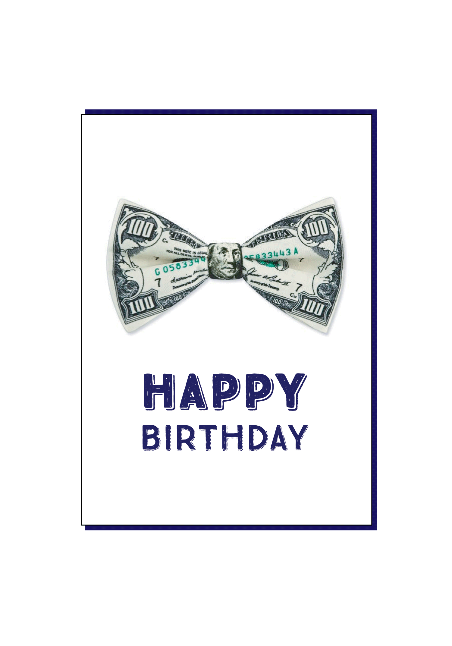 Money Happy Birthday Card Social Butterfly Designs