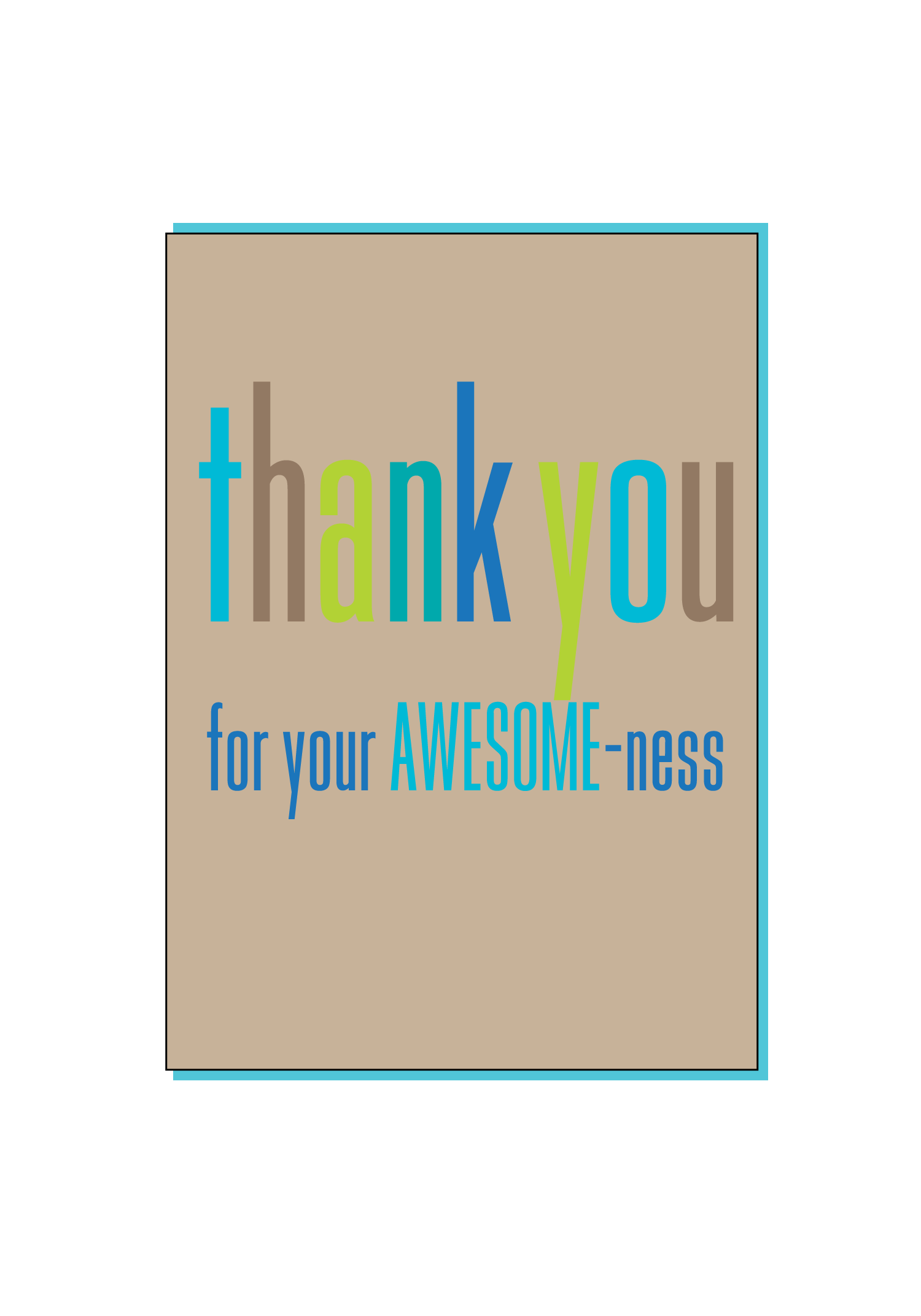Awesome Thank You Card Social Butterfly Designs
