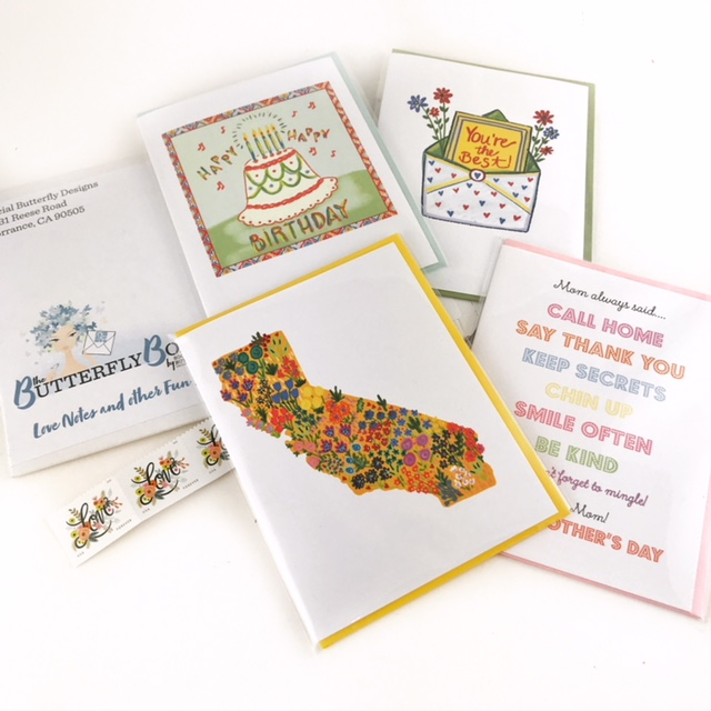 The Social Butterfly Monthly - 1 Full Year/Arrives Monthly4 Greeting Cards with Envelopes + Stamps$216 Value  ($18 per month)$160 single-payment (equivalent to 1 free month+) or $14.99 monthly charge