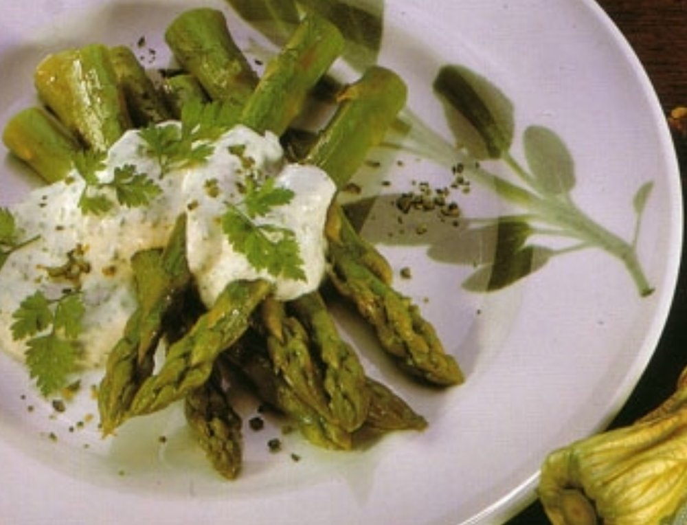 Asparagus with whipped cottage cheese.jpeg