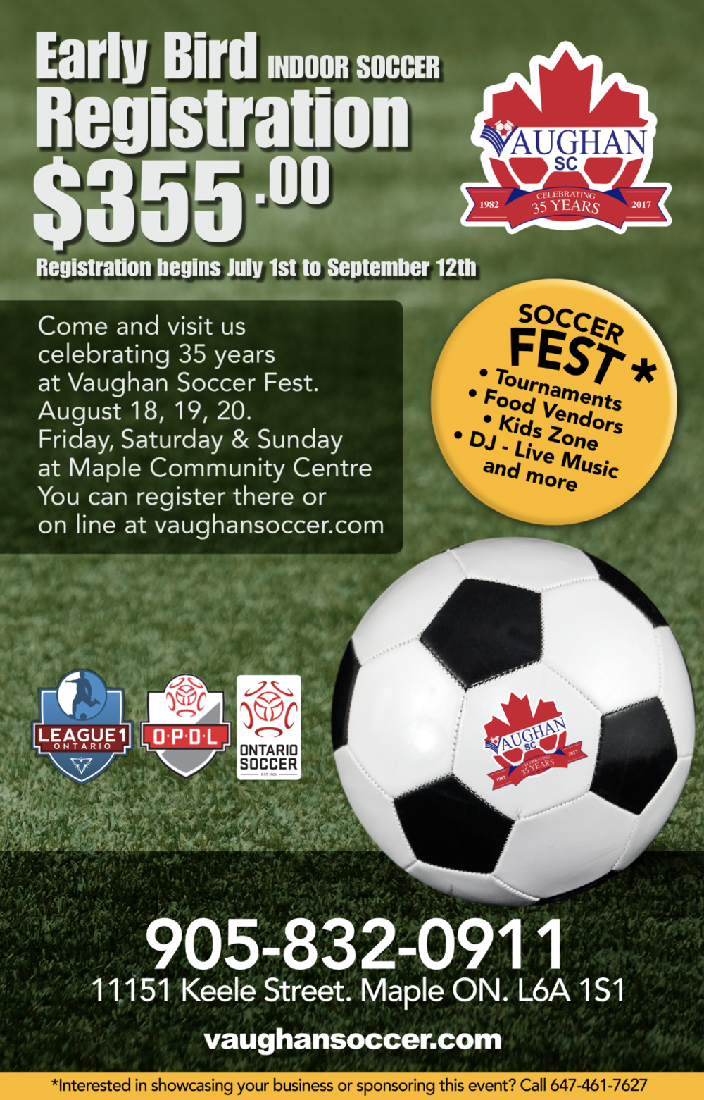 Vaughan Soccer Ad