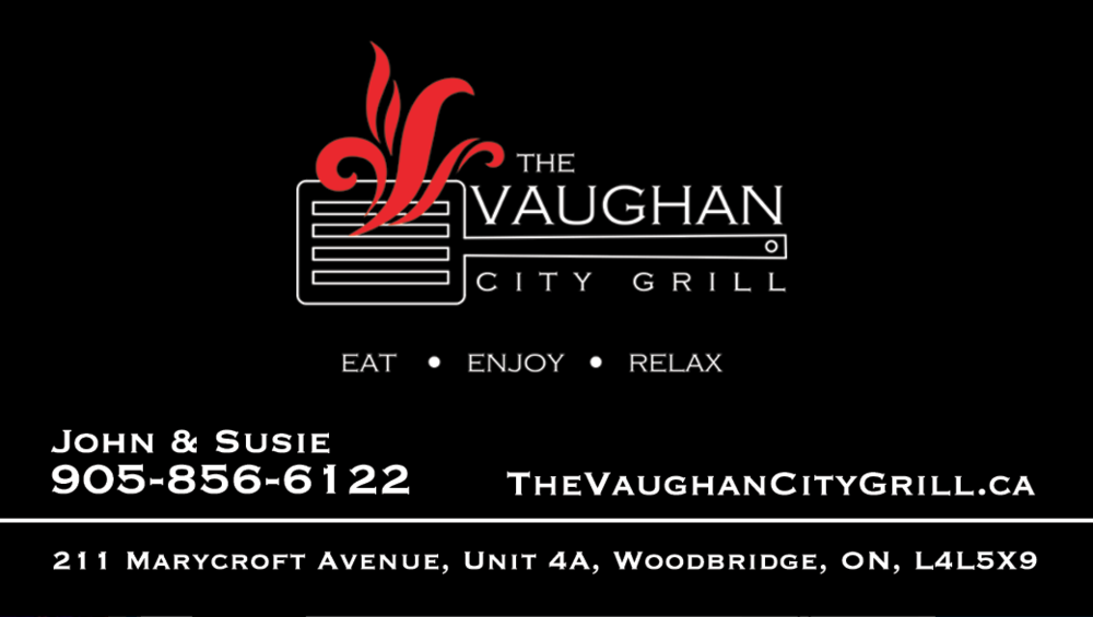 Vaughan City Grill Logo Prep & Business Card
