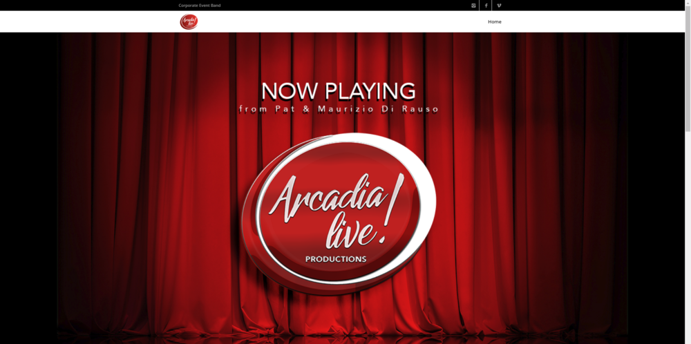 Arcadia Live! Productions (website, branding, graphic design, video & audio production, social media)