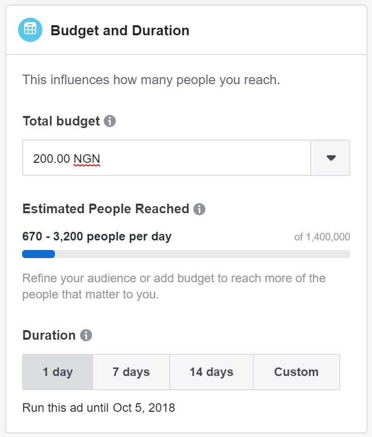 Facebook boosted post budget and duration.png
