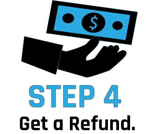 we verify and e-mail you to get reimbursed - IT'S THAT EASY!