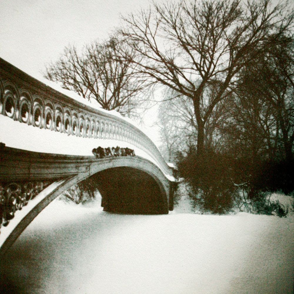 Bow Bridge in Snow