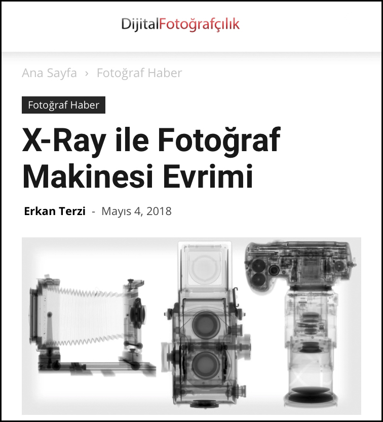 Evolution of Photographic Machines with X-rays May 4, 2018
