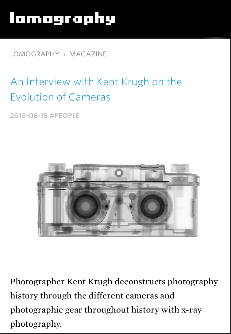 An Interview with Kent Krugh on the Evolution of Cameras June 15, 2018