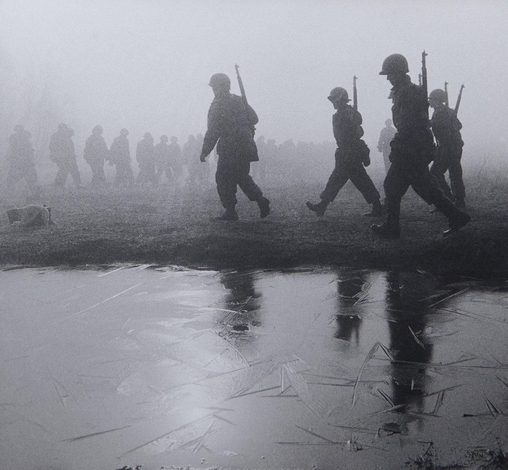 Soldiers in Icy Fog—Korea