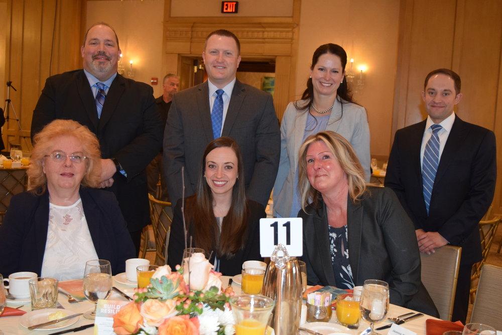 Representatives of breakfast sponsor  Penske Automotive Group  attended the event.