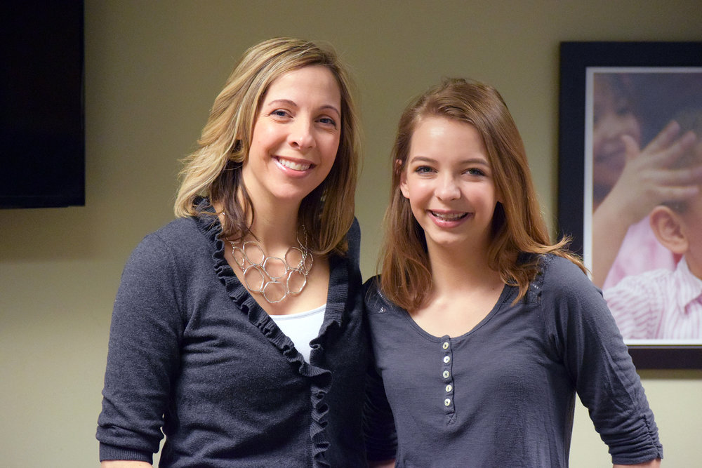 Sydney's mom, Colleen (left), reached out to Day One for assistance for her daughter, Sydney (right).