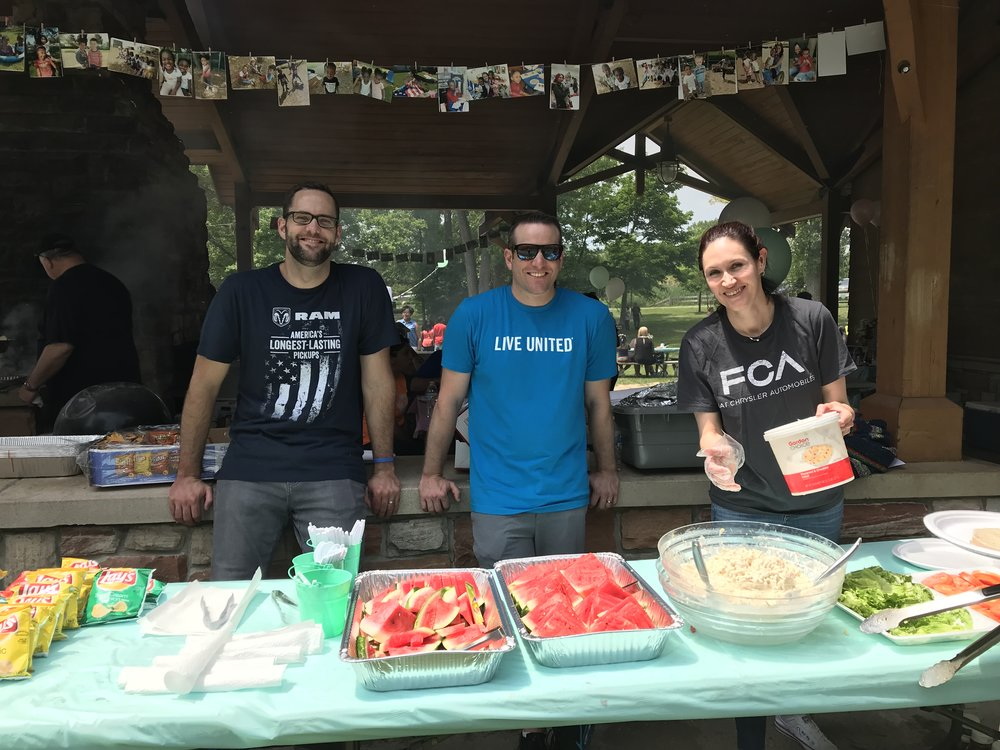 FCA US employees helped out at the end-of-the-year picnic for our Children's Learning Center in Pontiac.