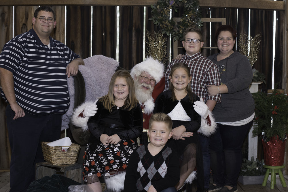 Santa Family Photo Stephanie West Photography