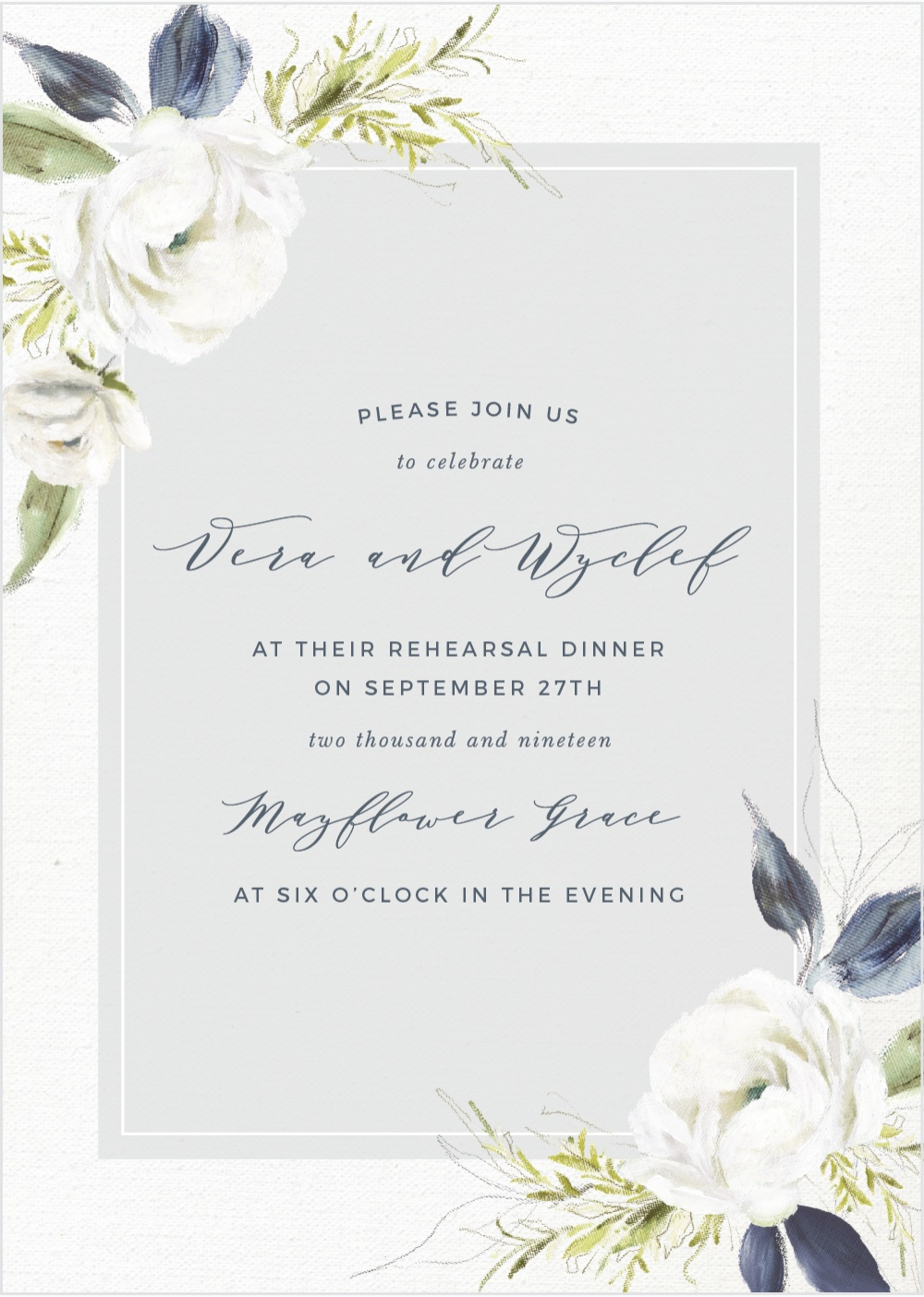 Basic Invite Custom Wedding Invitation Rehearsal Invitation