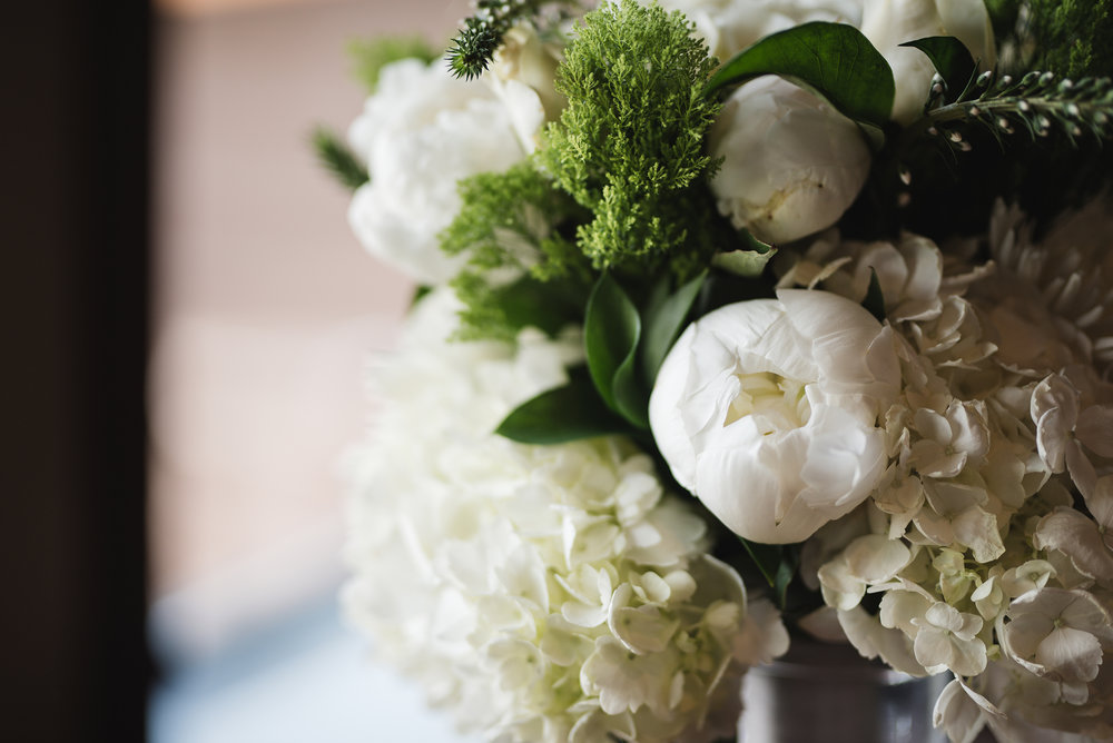 Close up of bride bouquet at Trout Club Wedding