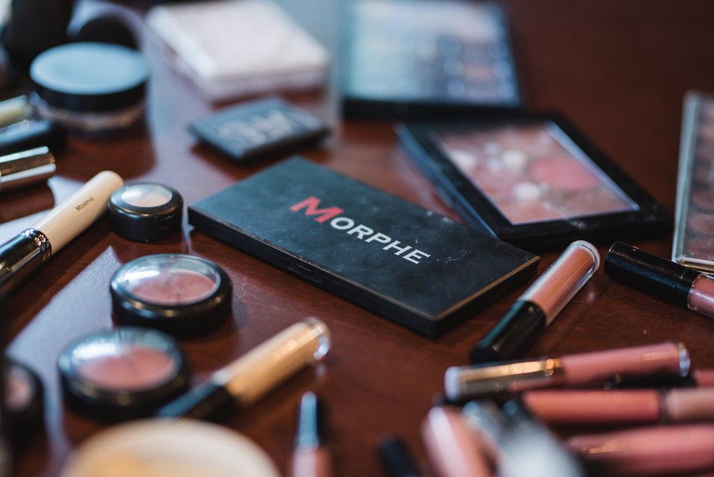 Morphe makeup at wedding at Trout Club