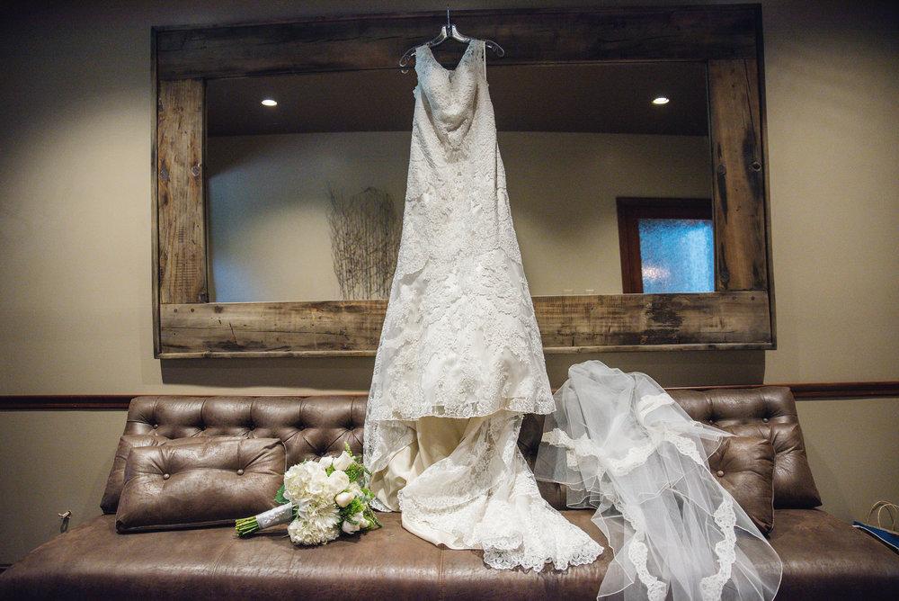 Wedding dress at Trout Club Wedding in Newark