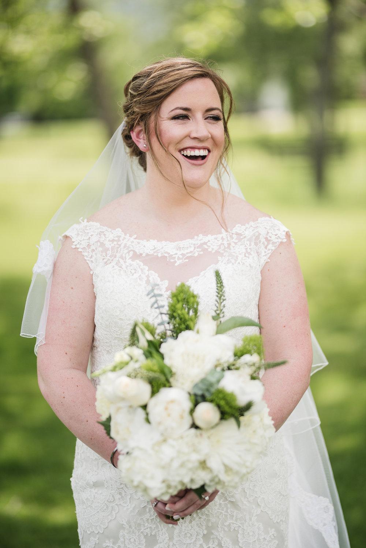 Trout Club wedding bride portrait