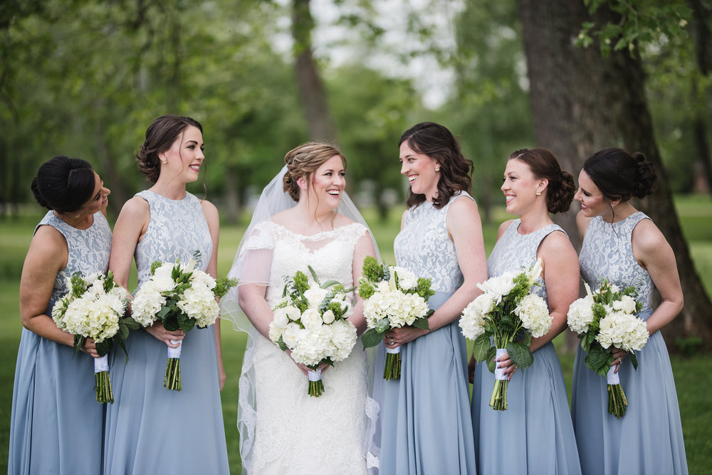 Trout club wedding photography bridesmaids with bride