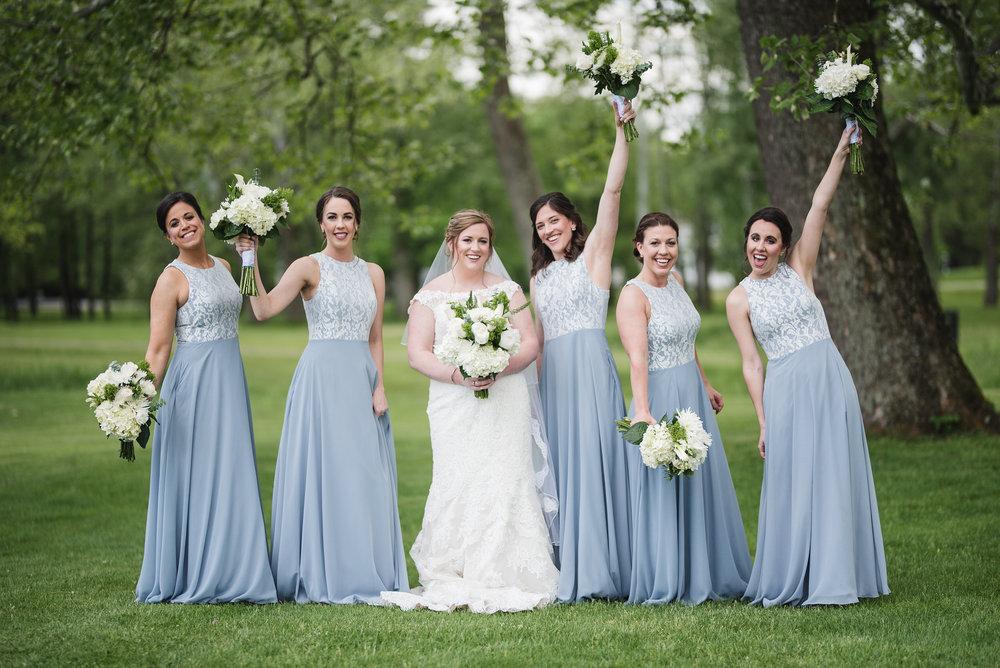 bridesmaids portraits trout club wedding