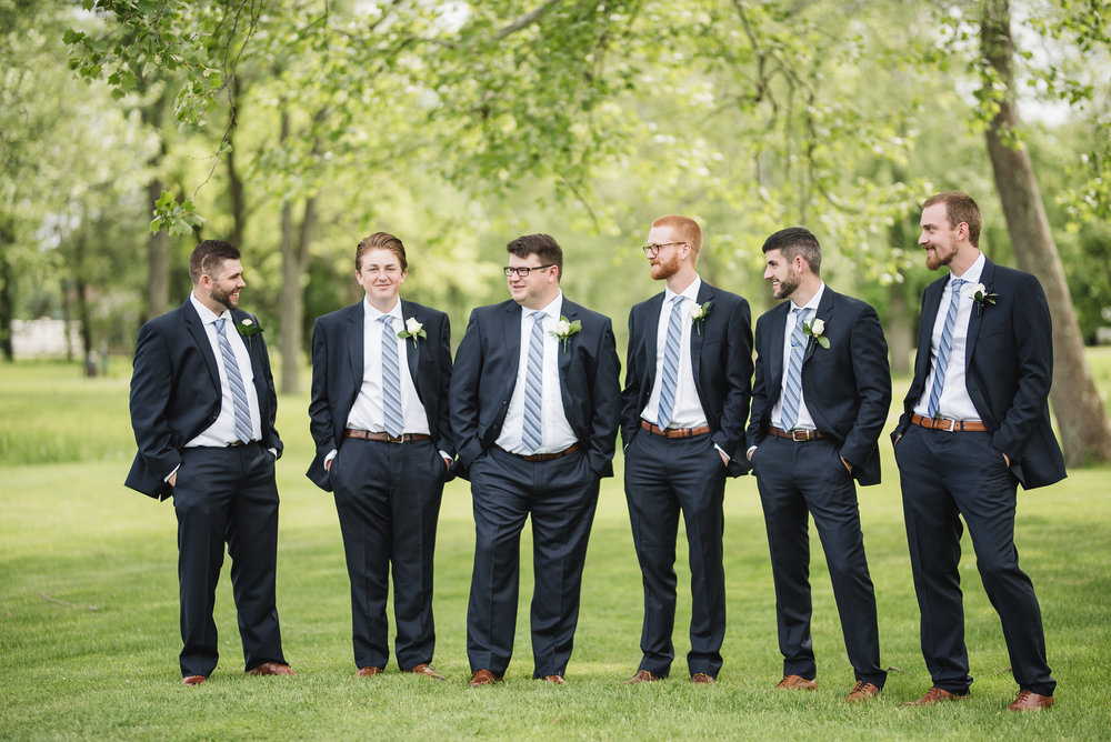 groomsmen portrait wedding trout club