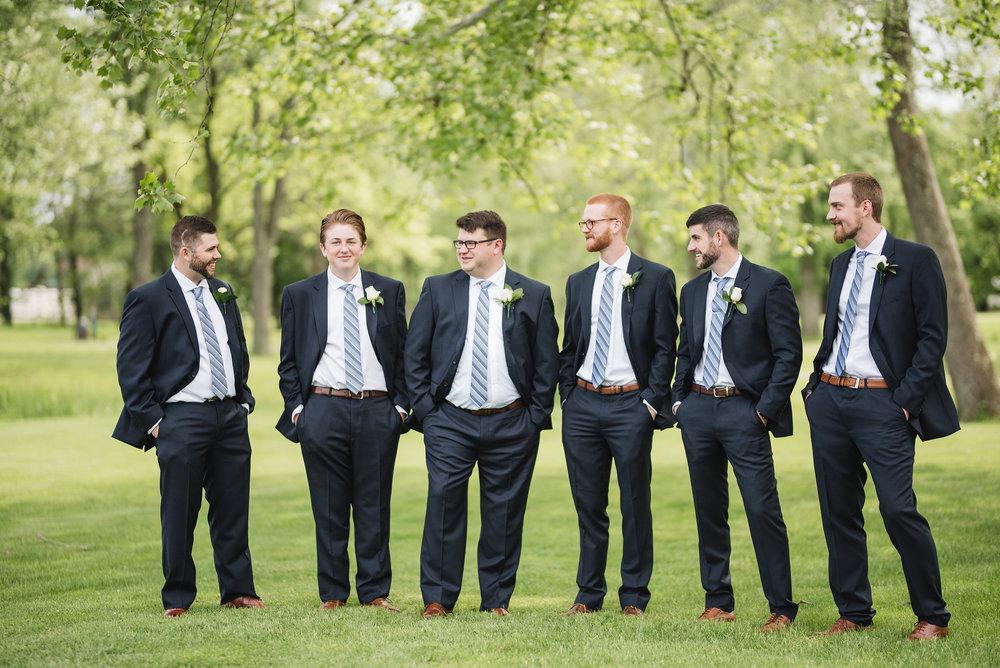 groomsmen portrait wedding trout club