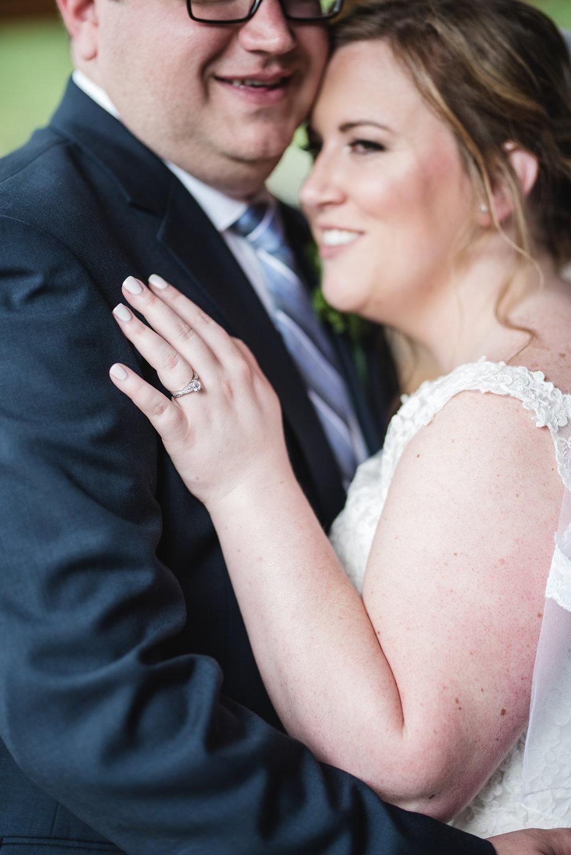 bride and groom portrait columbus wedding photographer