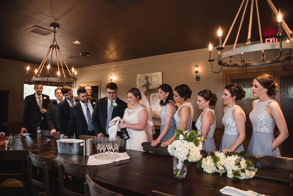 bridal suite champaigne toast