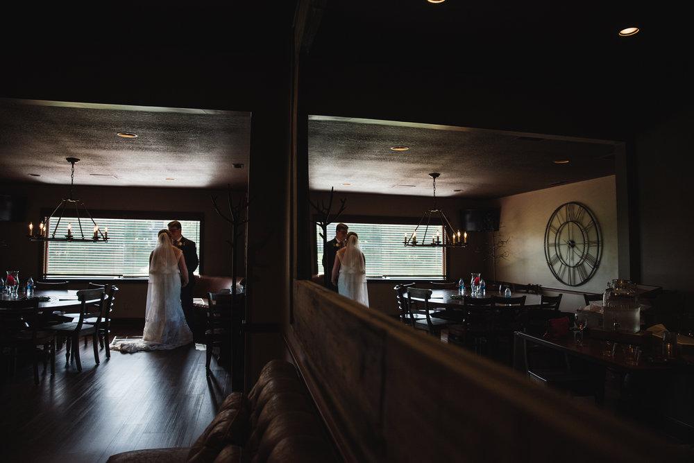 Bride and groom before their wedding columbus trout club newark