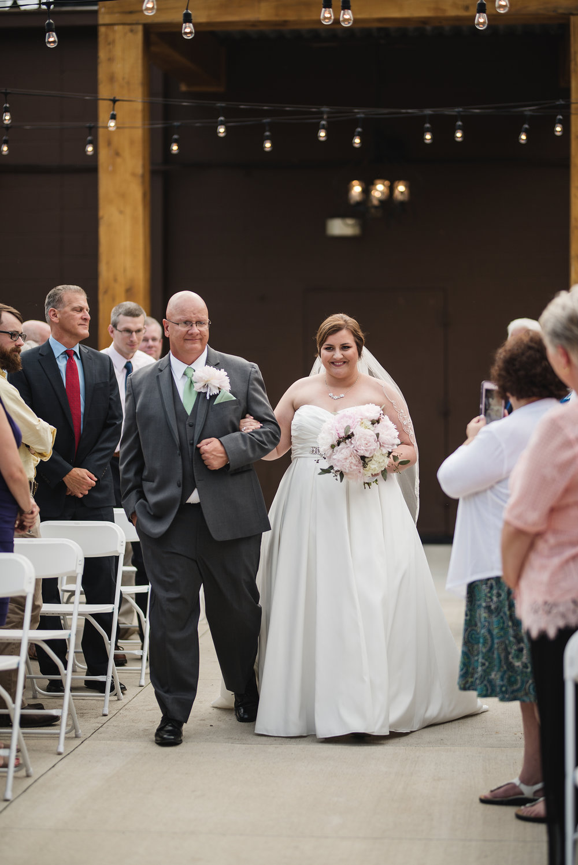 bride walk down aisle columbus ohio wedding