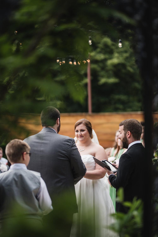 wedding ceremony outside at la navona