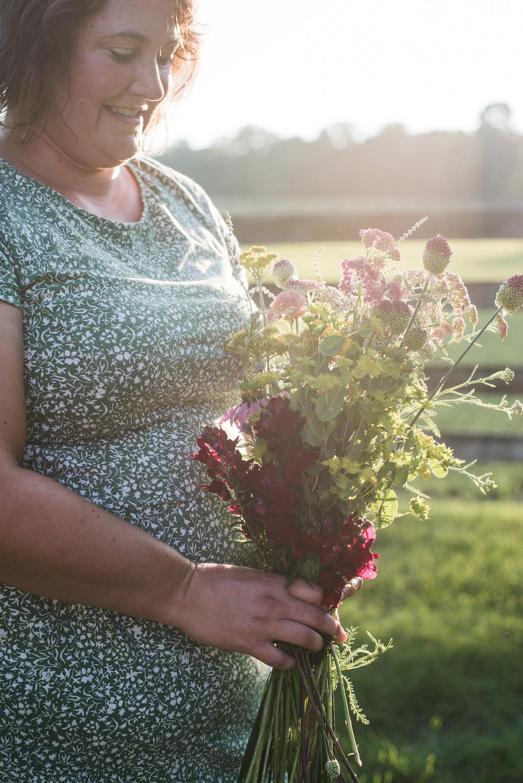 florist holding bouquet in columbus ohio