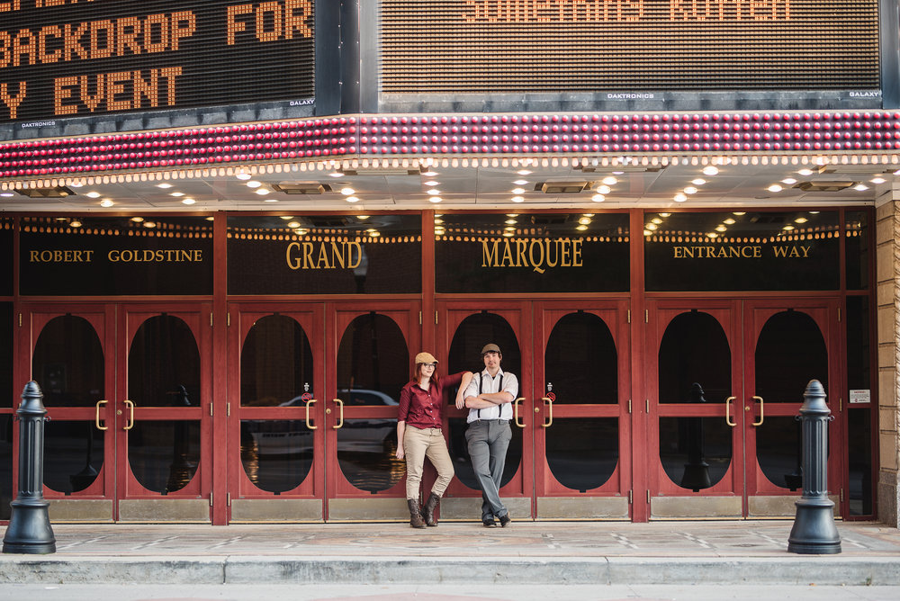 Fort Wayne Indiana Engagement Photographer Columbus Lancaster Ohio wedding dogs theater