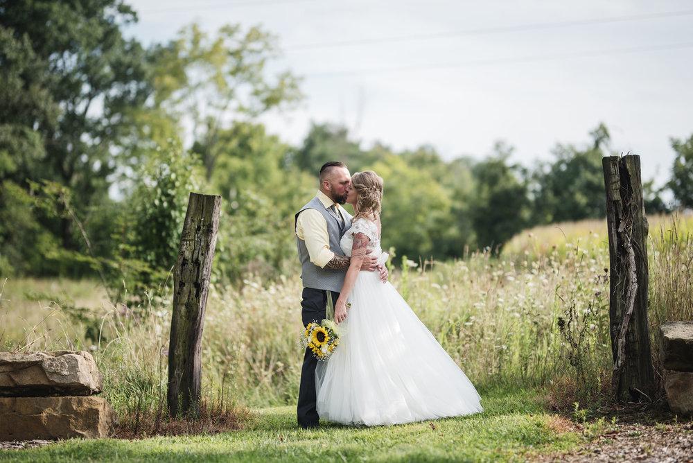 lancaster ohio wedding photographer bride and groom portrait