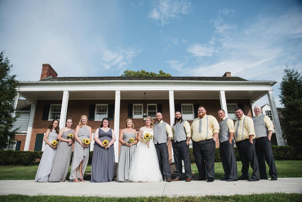 bridal party lancaster ohio wedding photographer