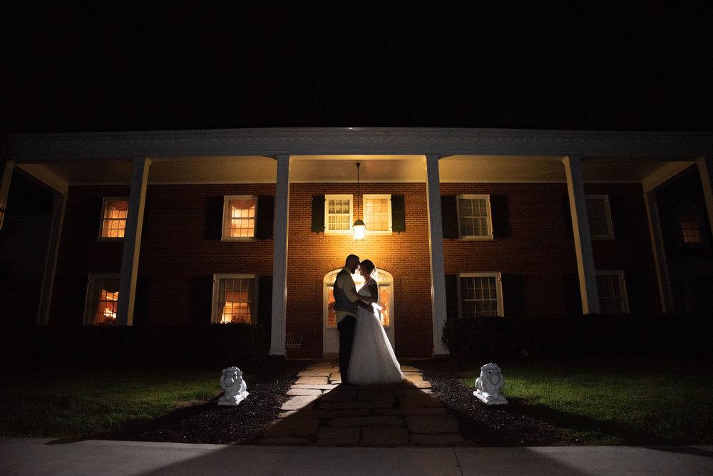 back light off camera flash portrait lancaster ohio wedding photographer