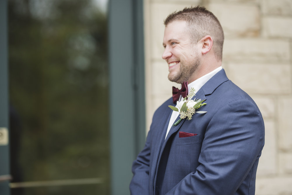 first look bride and groom wedding photographer