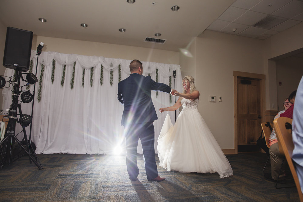 backlighting wedding reception photos