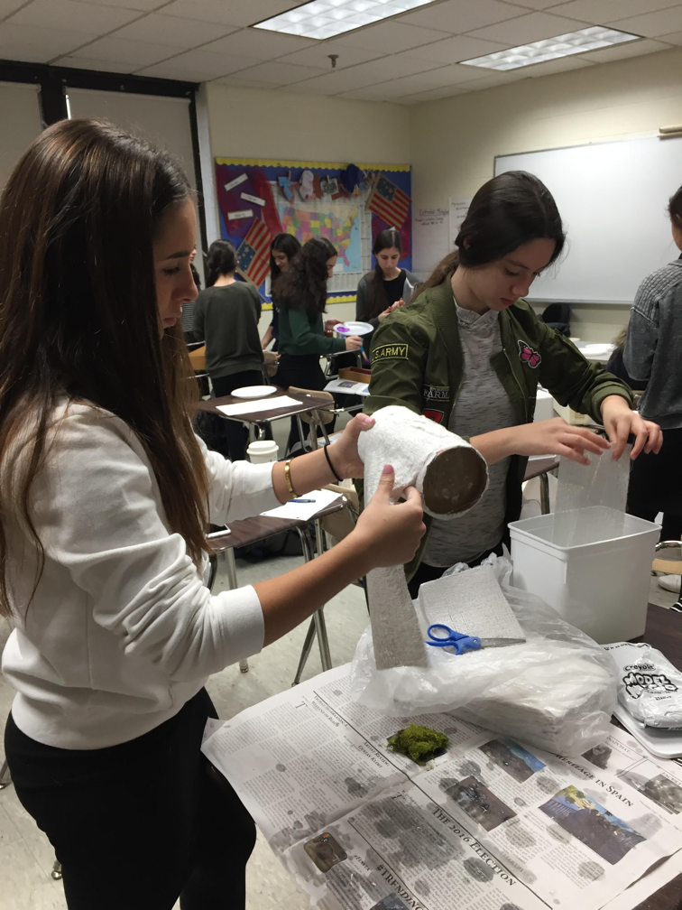 Students get creative as they make replicas of their artifacts