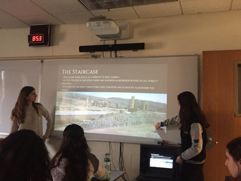 Students make their presentations to the class