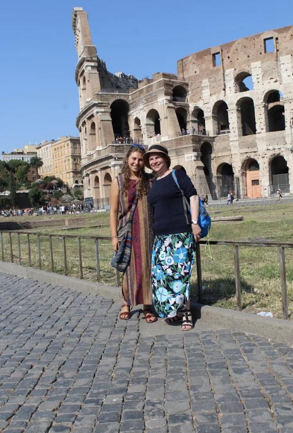 Eliana and I outside the Colosseum