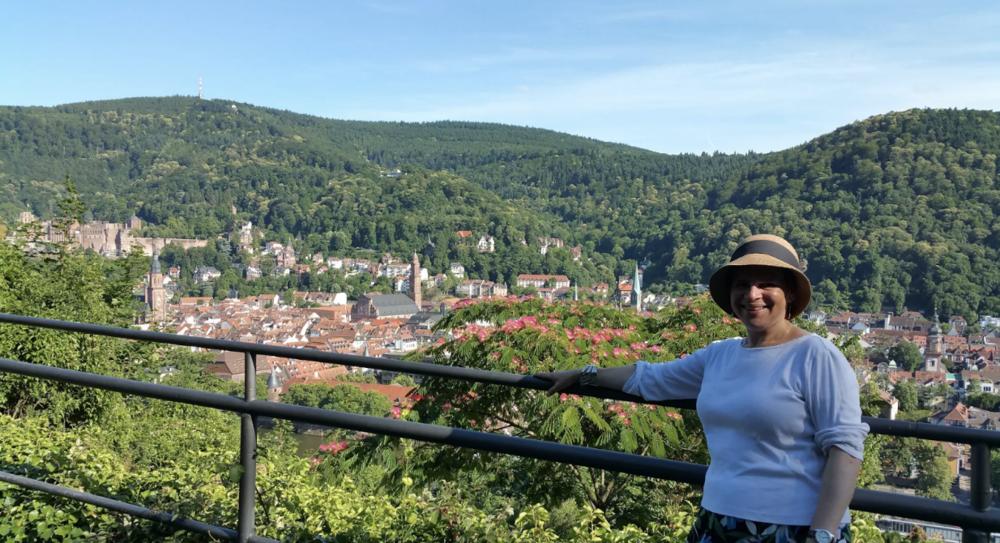 From the Philosopherweg, overlooking Heidelberg