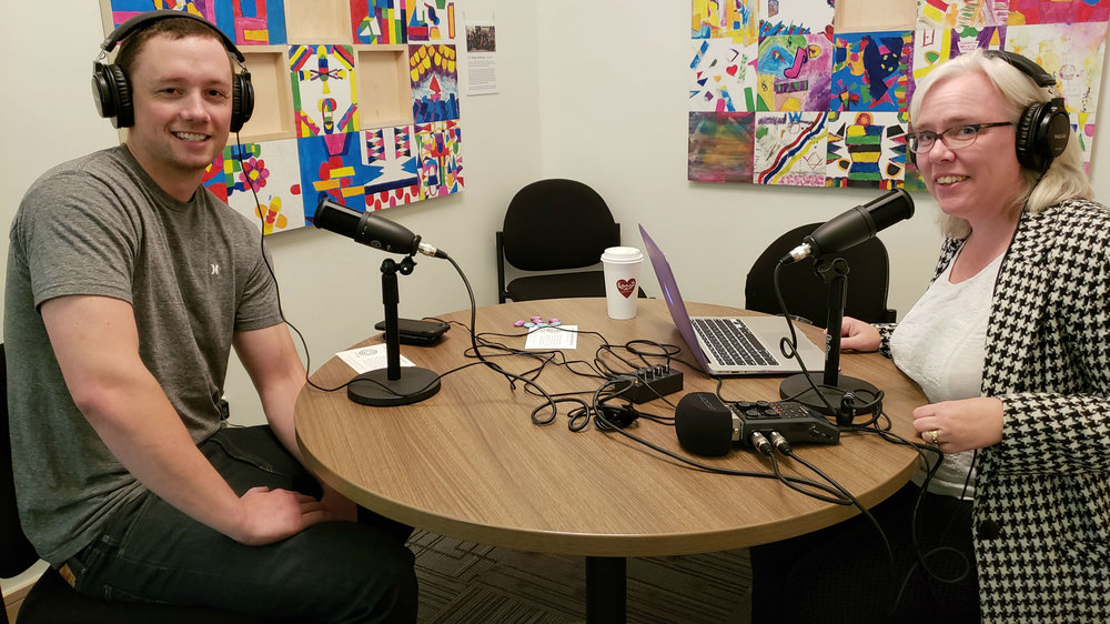 Zac Hartley, chief operating officer of Burgundy Oak, speaks to Karen Unland of the Alberta Podcast Network, powered by ATB, at the ATB Entrepreneur Centre in Calgary on Sept. 12, 2018.